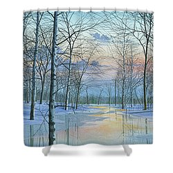 Winter Spectacle Shower Curtain