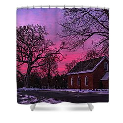 Shower Curtain featuring the photograph Winter Sunrise by Lori Coleman