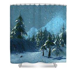 Winterspring Shower Curtain