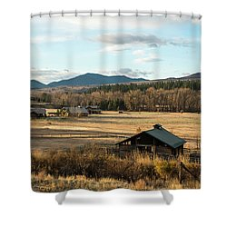 Winthrop Morning Pastures Shower Curtain