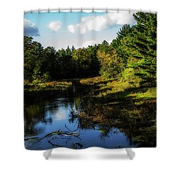 Wisconsin Waterscape Shower Curtain
