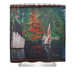 Wolf Lake On Vancouver Island  Shower Curtain