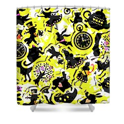 Wonderland Design Shower Curtain
