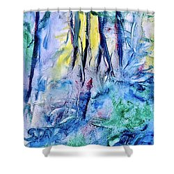 Wooded Stream Shower Curtain