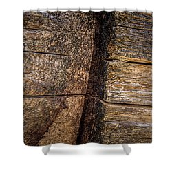Wooden Wall Shower Curtain