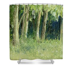 Woodland Tree Line Shower Curtain