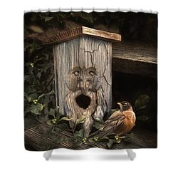 Shower Curtain featuring the photograph Woodsprite by Robin-Lee Vieira