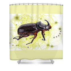 X Is For Xylotrupes Ulysses  Aka Rhinoceros Beetle Shower Curtain