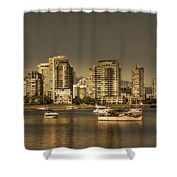 Yaletown Golden Hour Shower Curtain