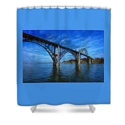 Yaquina Bay Bridge From South Beach Shower Curtain