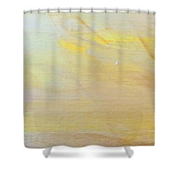 Shower Curtain featuring the painting Yellow #2 by Maria Langgle