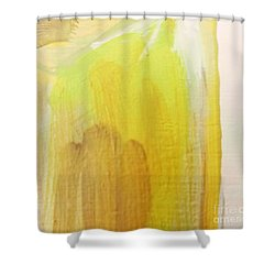 Shower Curtain featuring the painting Yellow #3 by Maria Langgle