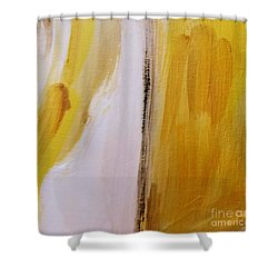 Shower Curtain featuring the painting Yellow #5 by Maria Langgle