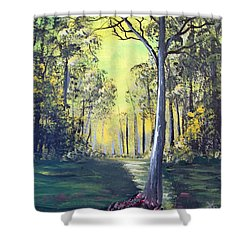Yellow Forrest Shower Curtain