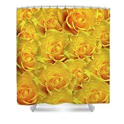 Yellow Roses Art Design Shower Curtain