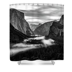 Shower Curtain featuring the photograph Yosemite Fog 1 by Stephen Holst