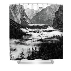 Shower Curtain featuring the photograph Yosemite Fog 2 by Stephen Holst