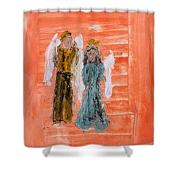 Young Love Angels Shower Curtain