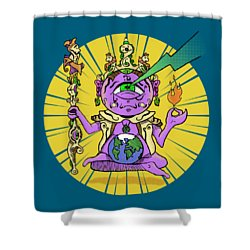 Shower Curtain featuring the digital art Zen by Sotuland Art
