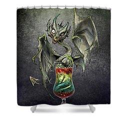 Zombie Dragon Shower Curtain