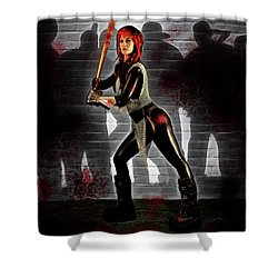Zombie Hunter Shower Curtain