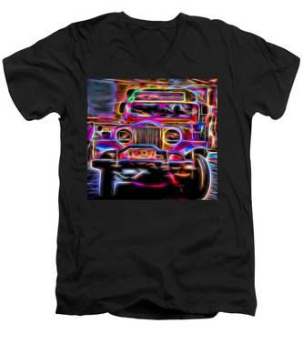 the Jeepney Men's V-Neck T-Shirt