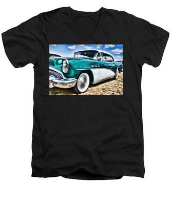 1955 Buick Men's V-Neck T-Shirt