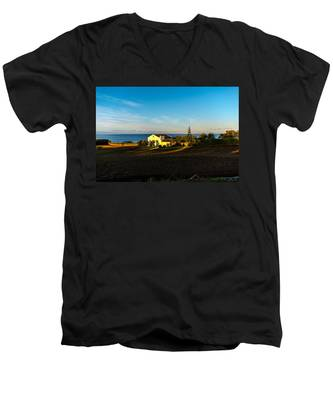 Men's V-Neck T-Shirt featuring the photograph Light Of Warmth by Joseph Amaral