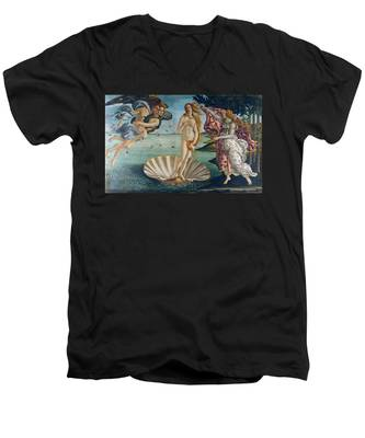 The Birth Of Venus Men's V-Neck T-Shirt
