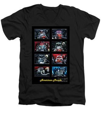 American Muscle Men's V-Neck T-Shirt