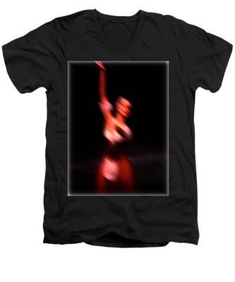 Ballet Blur 4 Men's V-Neck T-Shirt