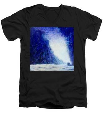 Blue Landscape - Abstract Men's V-Neck T-Shirt