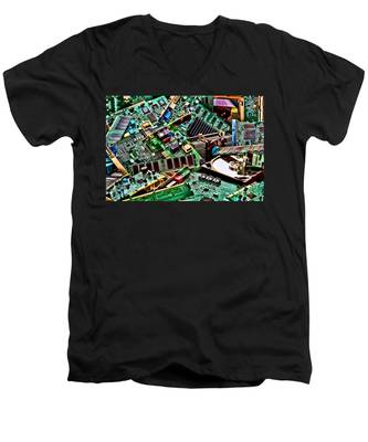 Computer Parts Men's V-Neck T-Shirt