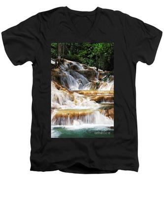 Dunn Falls _ Men's V-Neck T-Shirt