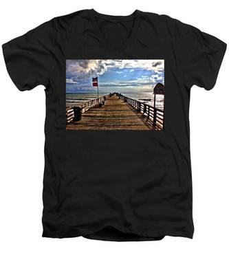 Flagler Pier Men's V-Neck T-Shirt