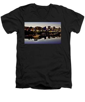 Foss Waterway At Night Men's V-Neck T-Shirt