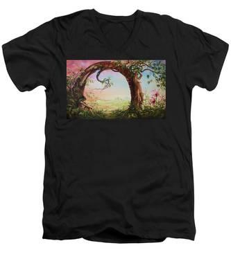 Gate Of Illusion Men's V-Neck T-Shirt