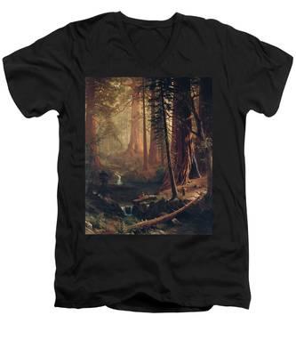 Giant Redwood Trees Of California Men's V-Neck T-Shirt