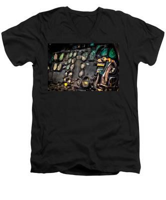 Huey Instrument Panel Men's V-Neck T-Shirt