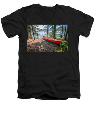 Kayak By The Water Men's V-Neck T-Shirt