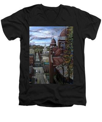 La025 Men's V-Neck T-Shirt