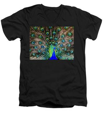 Majestic Blue Men's V-Neck T-Shirt