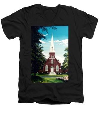 Methodist Church Men's V-Neck T-Shirt