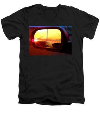 Mirror Sunset Men's V-Neck T-Shirt