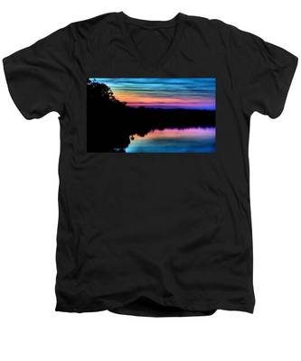 Nature's Rainbow Men's V-Neck T-Shirt