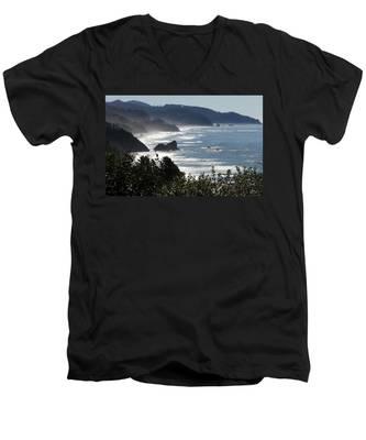 Pacific Mist Men's V-Neck T-Shirt