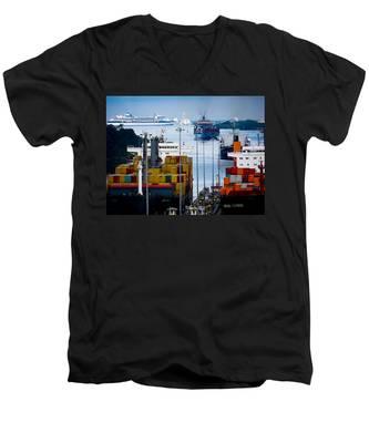 Panama Canal Express Men's V-Neck T-Shirt