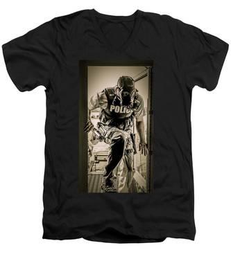Patriot3 Second Floor Entry Men's V-Neck T-Shirt