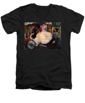 Rabbit Talk Men's V-Neck T-Shirt