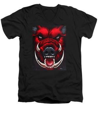 Raging Hog Men's V-Neck T-Shirt